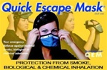 Quick Escape Bio Chemical and Smoke Protection Mask